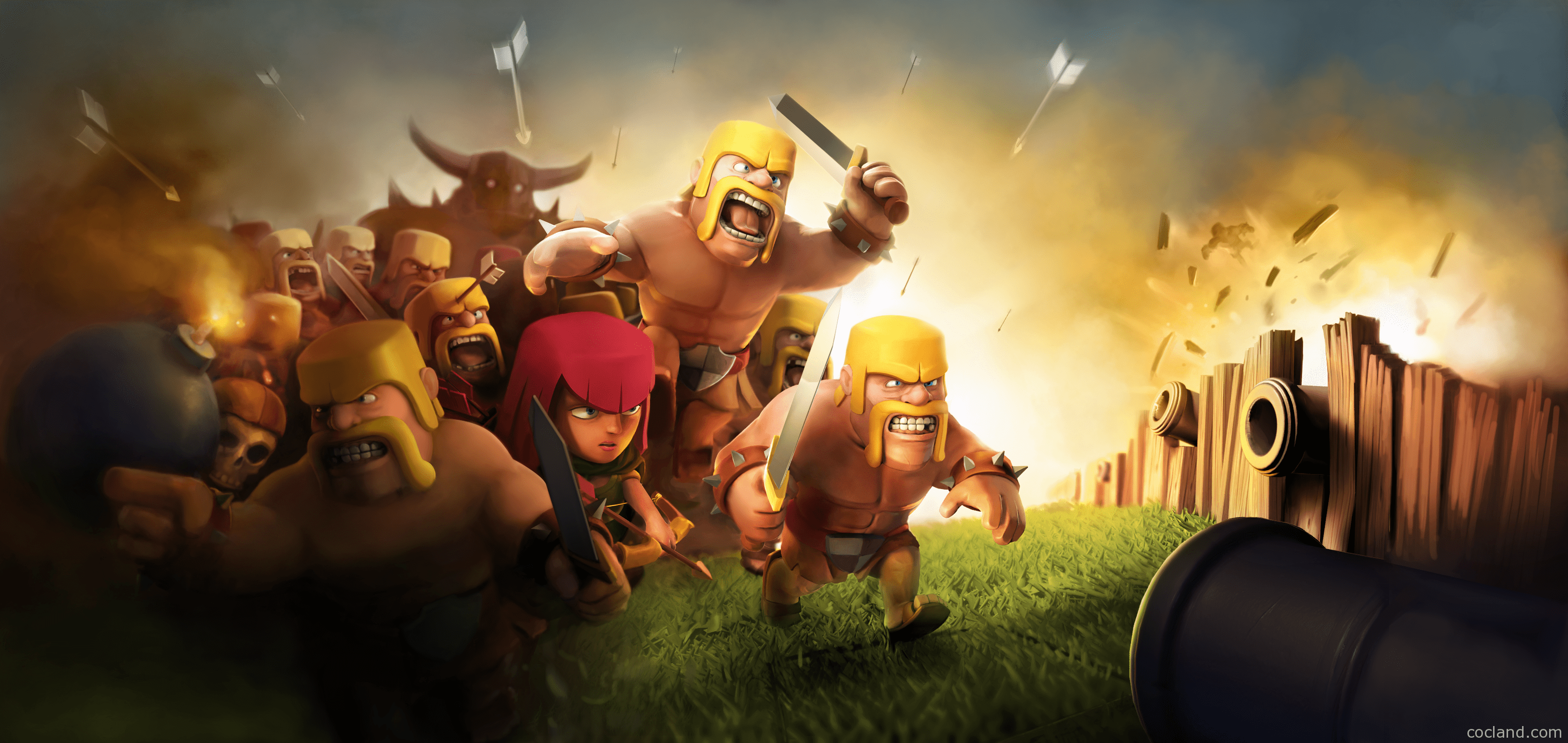 4K Clash of Clans Wallpaper Free