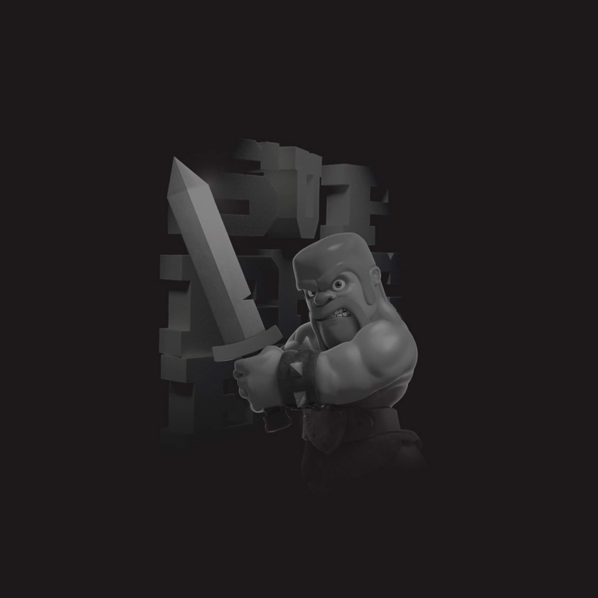 Clash of Clans Black and White Wallpaper
