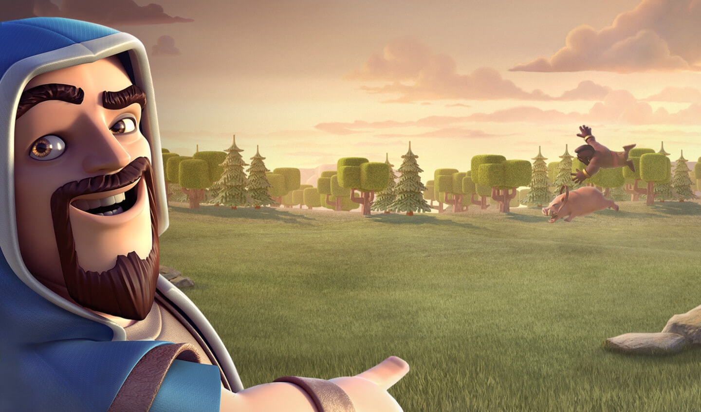 Clash of Clans Funny Wizard Wallpaper