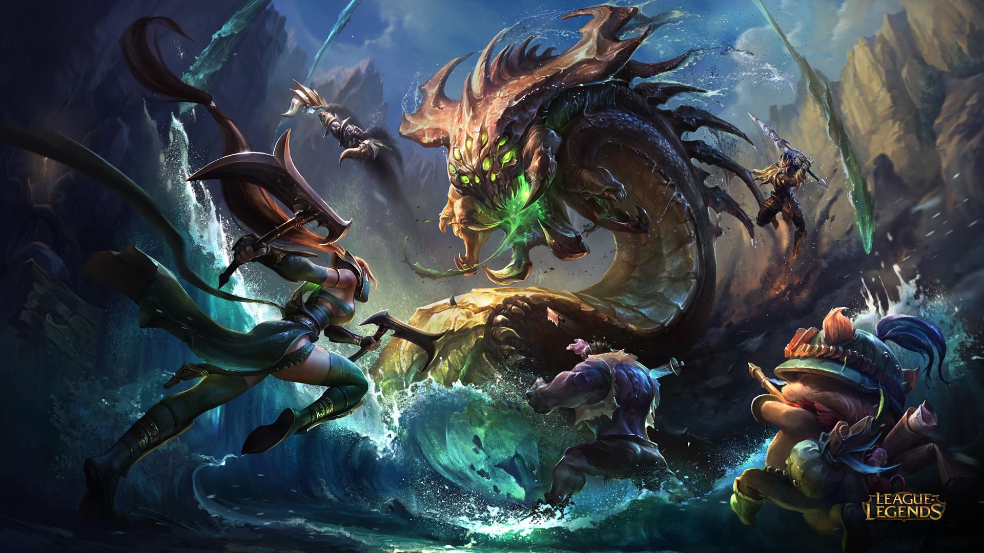 Akali vs Baron - League of Legends Wallpapers