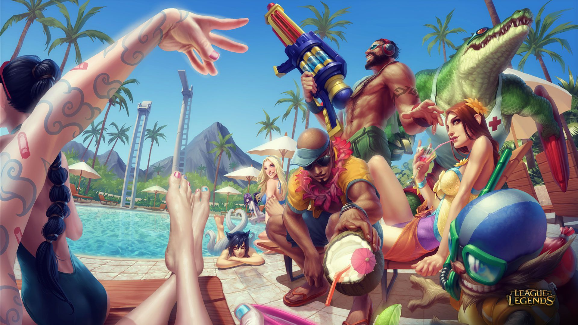 Funny Pool Party Wallpapers - League of Legends