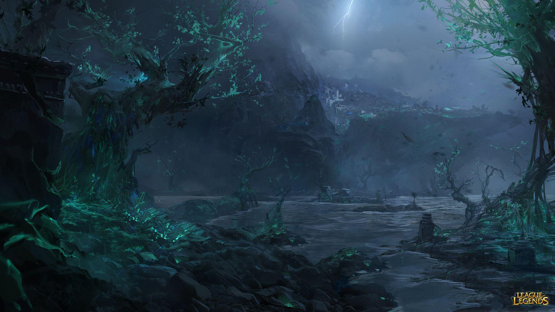 HD Shadow Isles Wallpaper - League of Legends Wallpapers