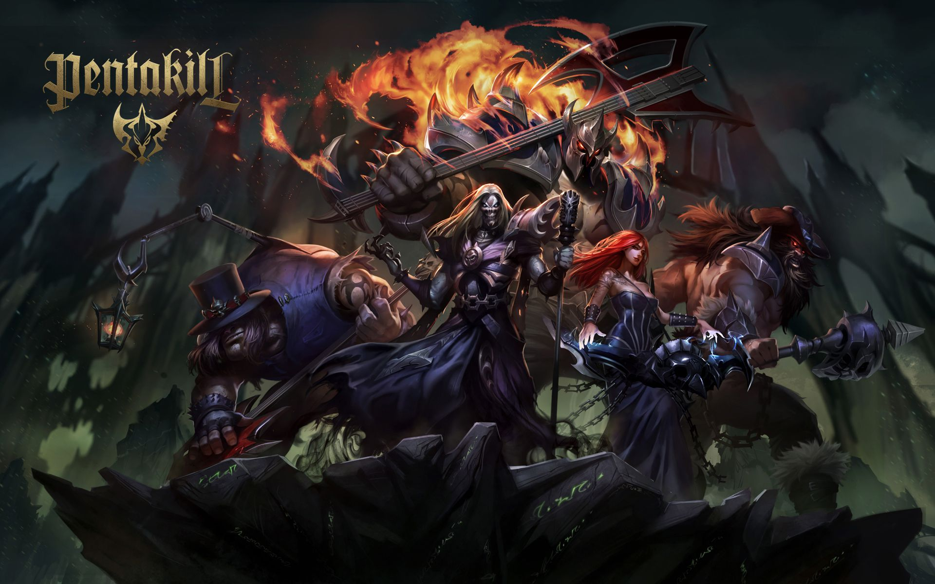 LOL - Characters and Pentakill Wallpaper