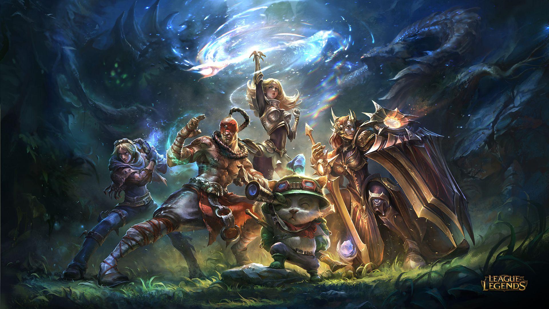 League of Legends Team Builder Wallpaper