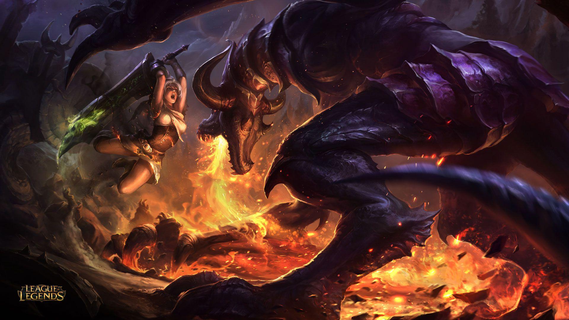 Riven vs Shyvana - League of Legends Wallpapers