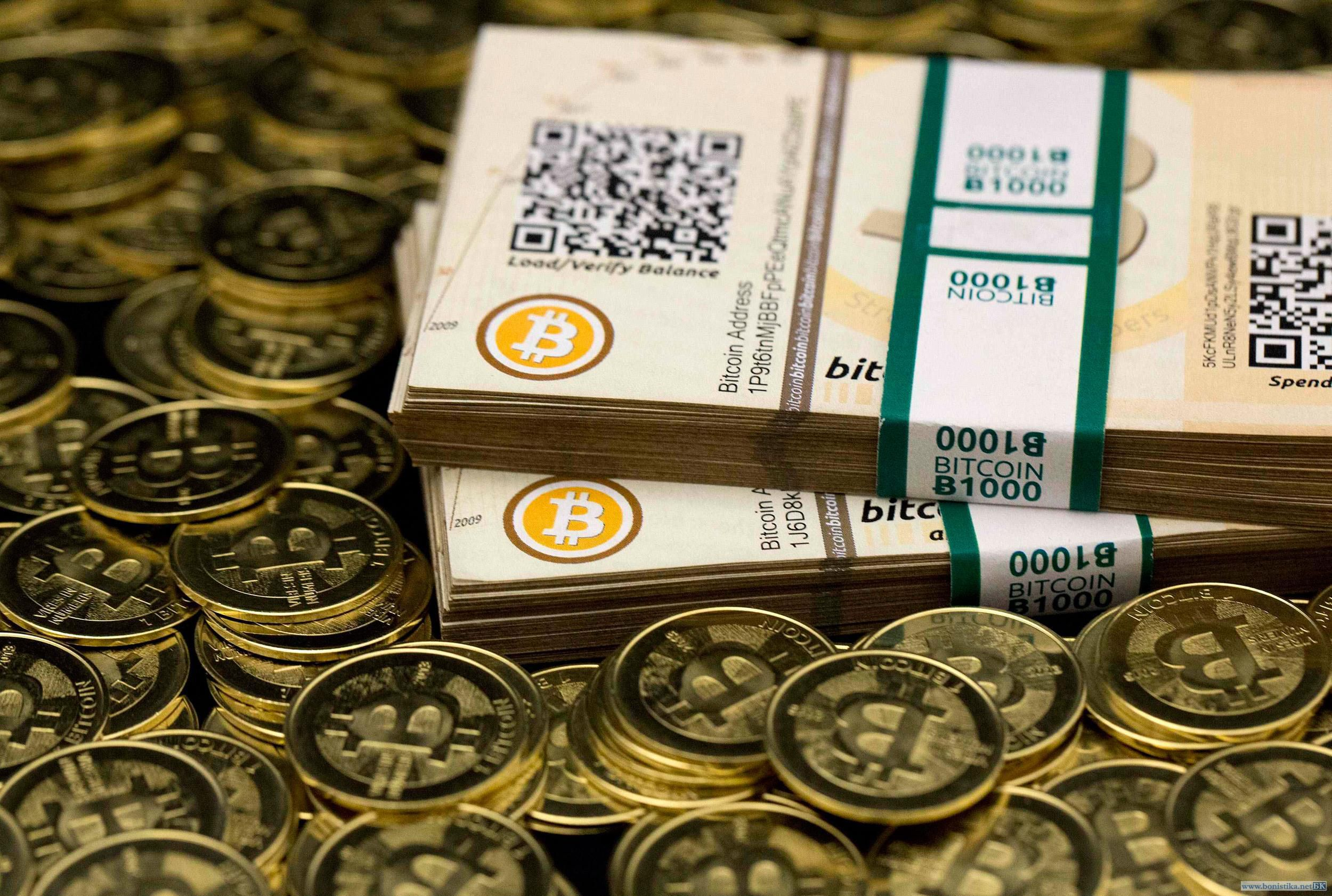 Bitcoin Banknotes and Coins Wallpaper Full HD
