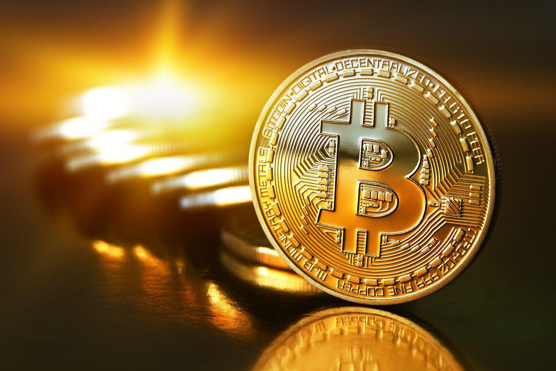 Bitcoin Coin and Sunrise