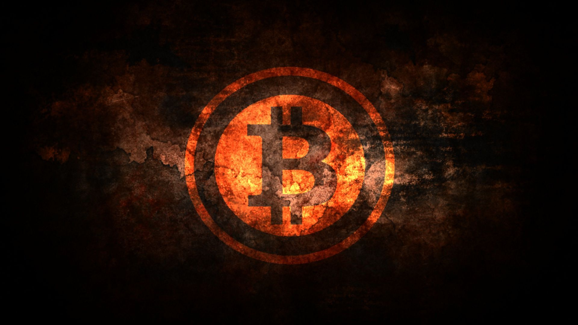 Crack Wall Bitcoin Logo Wallpaper
