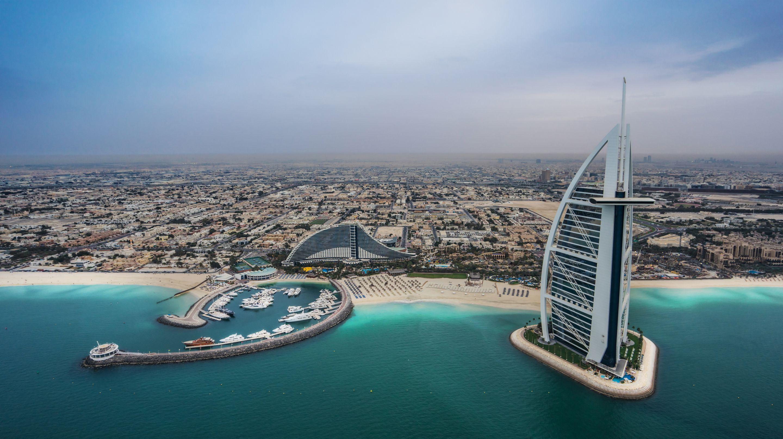 Dubai Beach and Sea Wallpaper Full HD