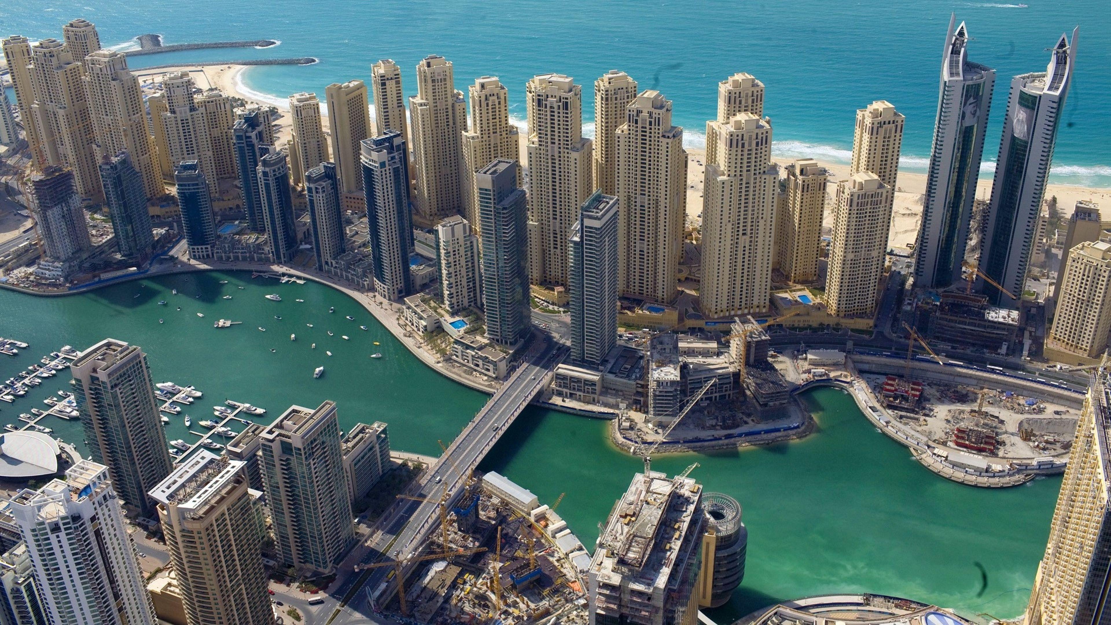 Dubai Birdge and Buildings 4K Wallpaper