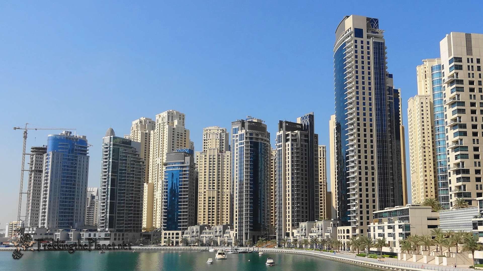 Dubai Marina at Daytime HD 1920x1080