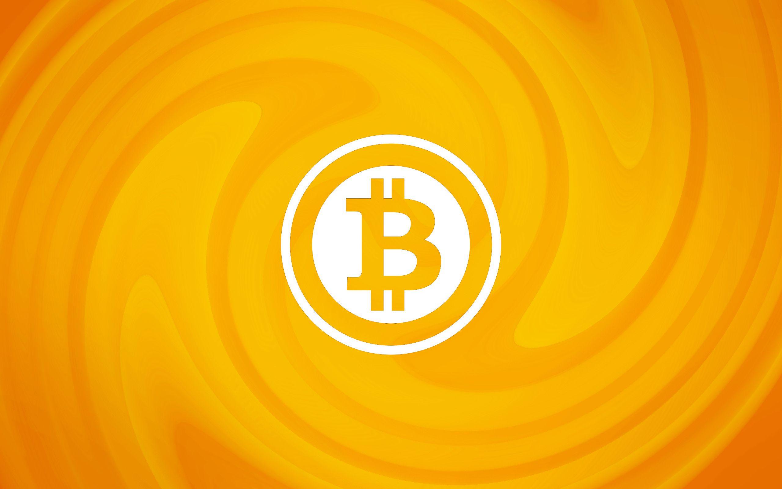 Full HD Orange Bitcoin Wallpaper
