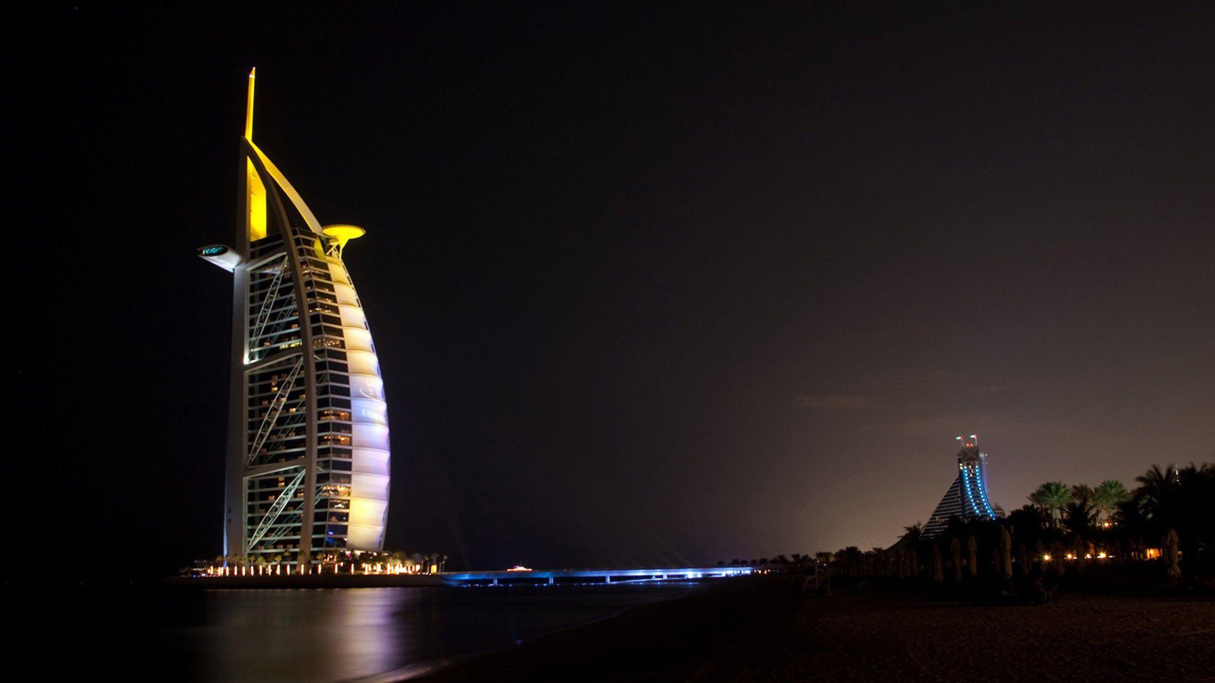 HD Burj al Arab Hotel Wallpaper 2400x1350