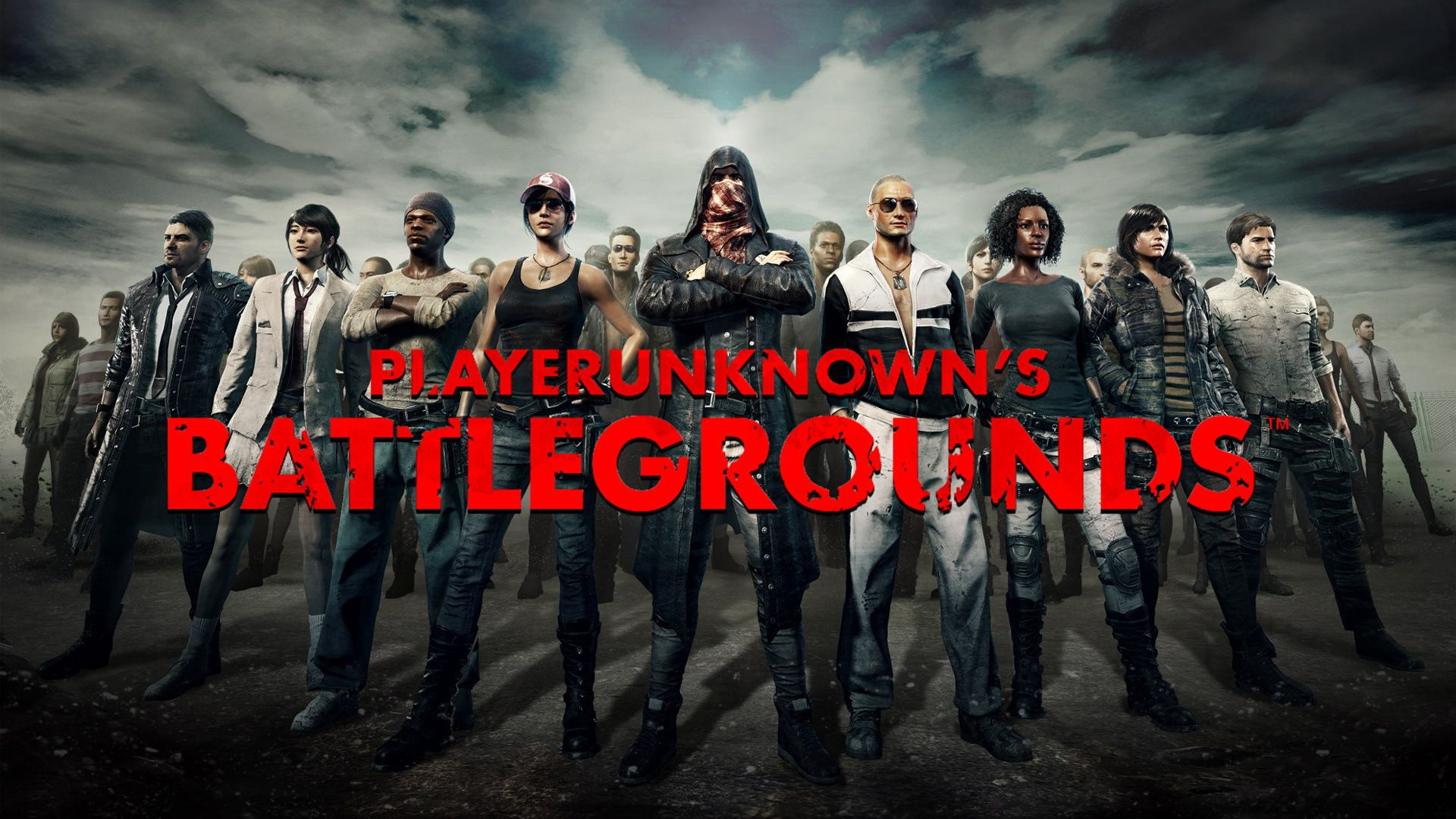 HD Red Font PUBG Wallpaper