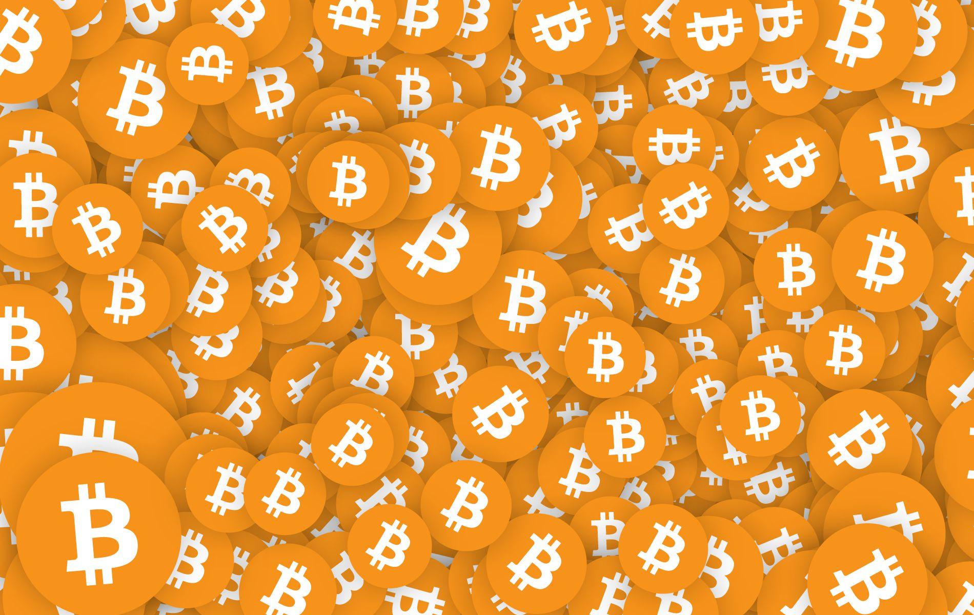 Orange Bitcoin Logos Wallpaper 1900x1200