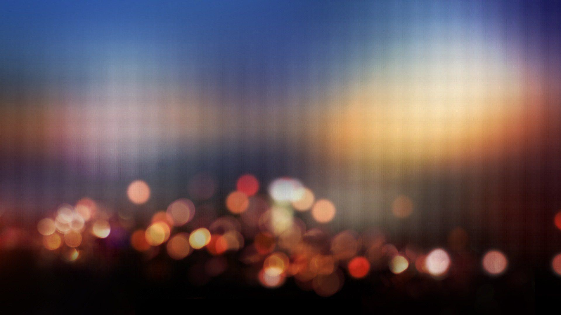 Bokeh City Lights Wallpaper