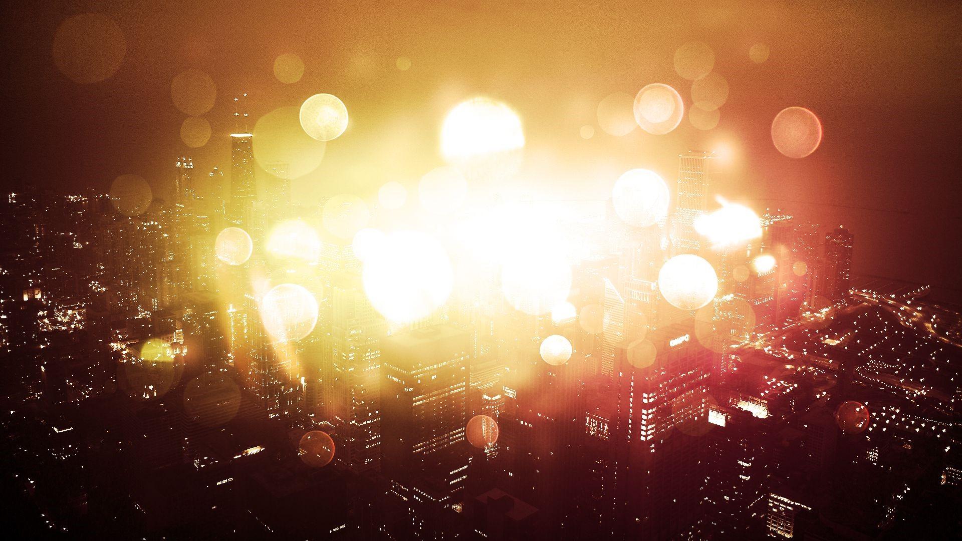 Bokeh Light in The City Desktop HD Wallpaper