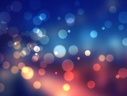 Bokeh Shades Of Blue Pc Wallpaper