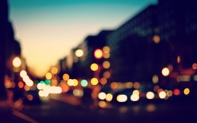 Bokeh Sunset Lights 4K Wallpaper