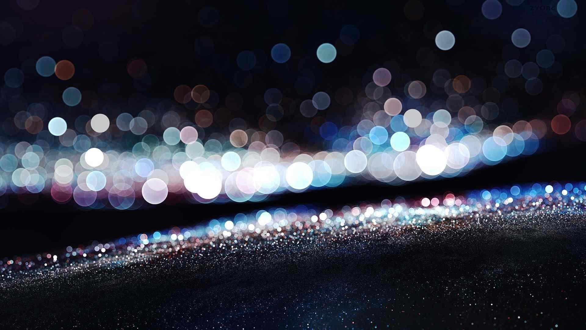 Bokeh The Glitters on The Ground Free Desktop Wallpaper