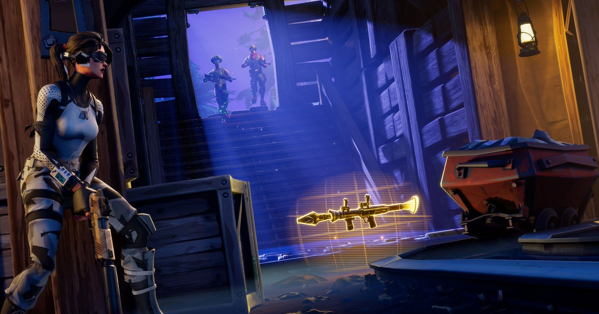 Fortnite Bait Trapped Warehouse Wallpaper