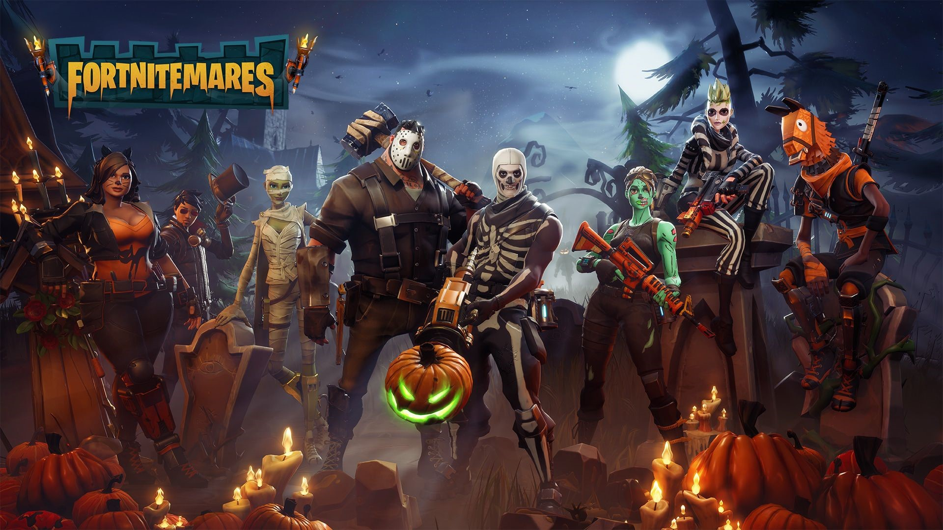 Fortnite Halloween Team Characters Wallpaper