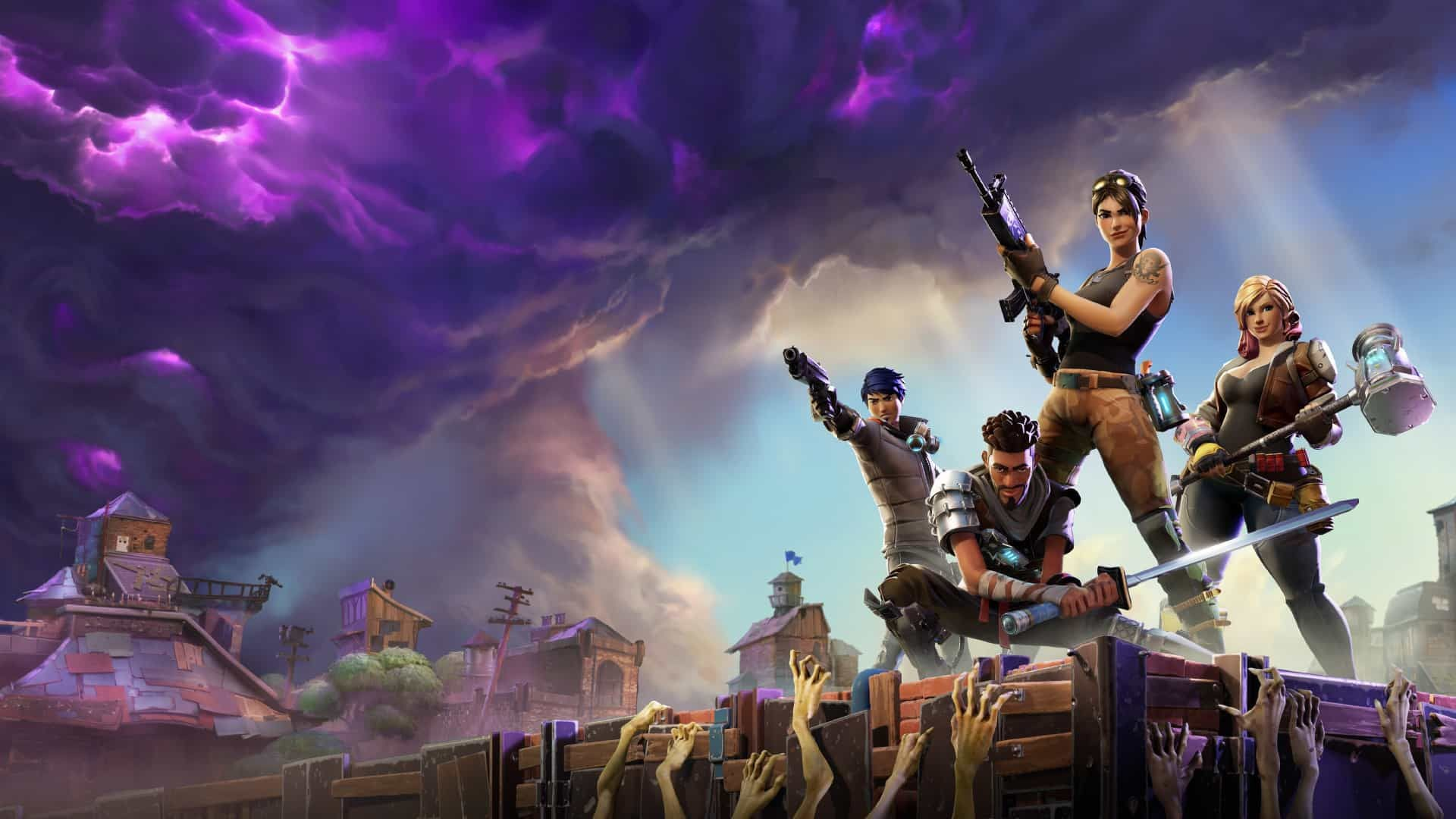 Fortnite Zombie Attack HD Wallpaper