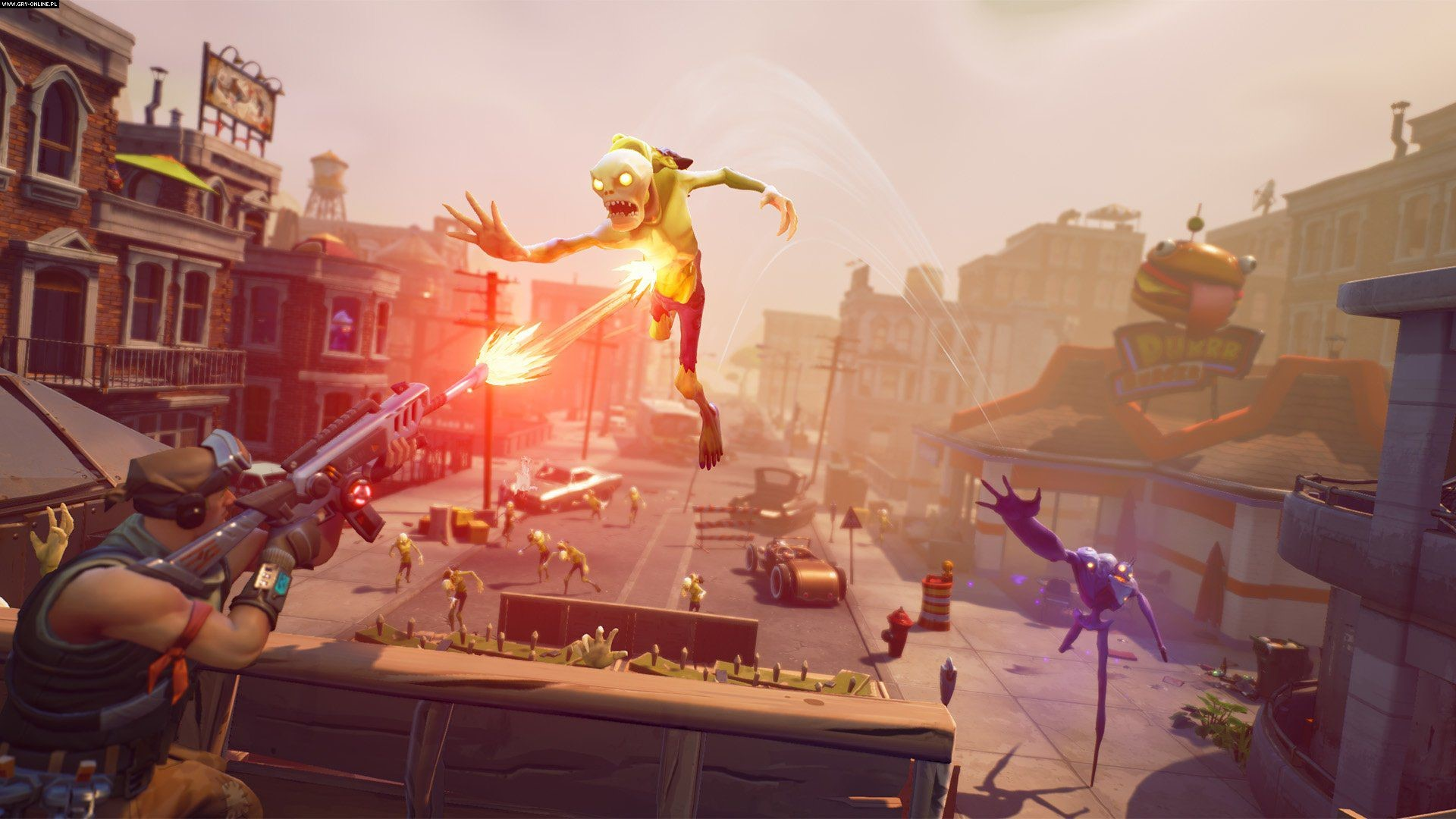 Fortnite Zombie Flying To Warrior HD Wallpaper