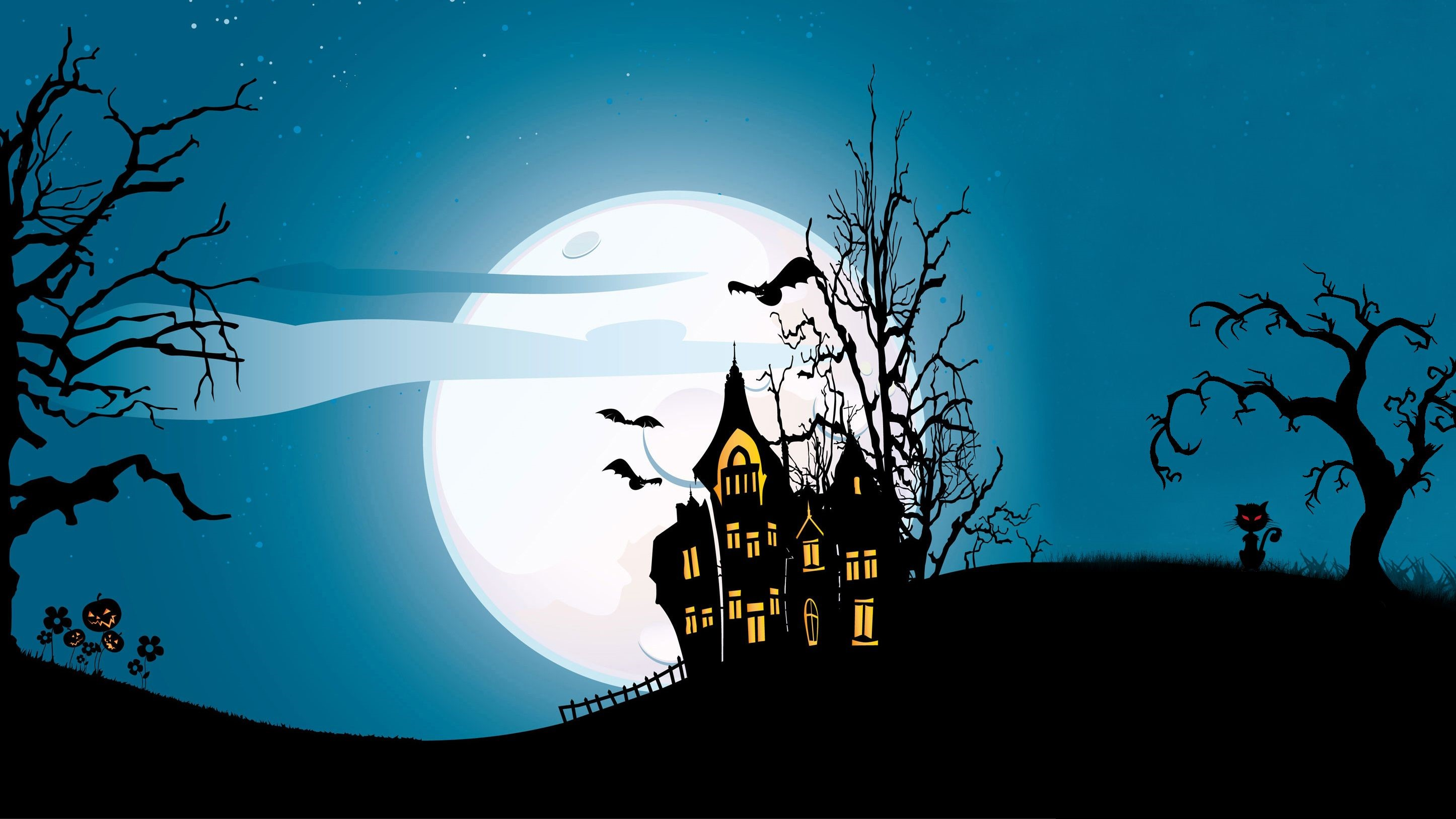 Halloween Fearful Castle Wallpaper