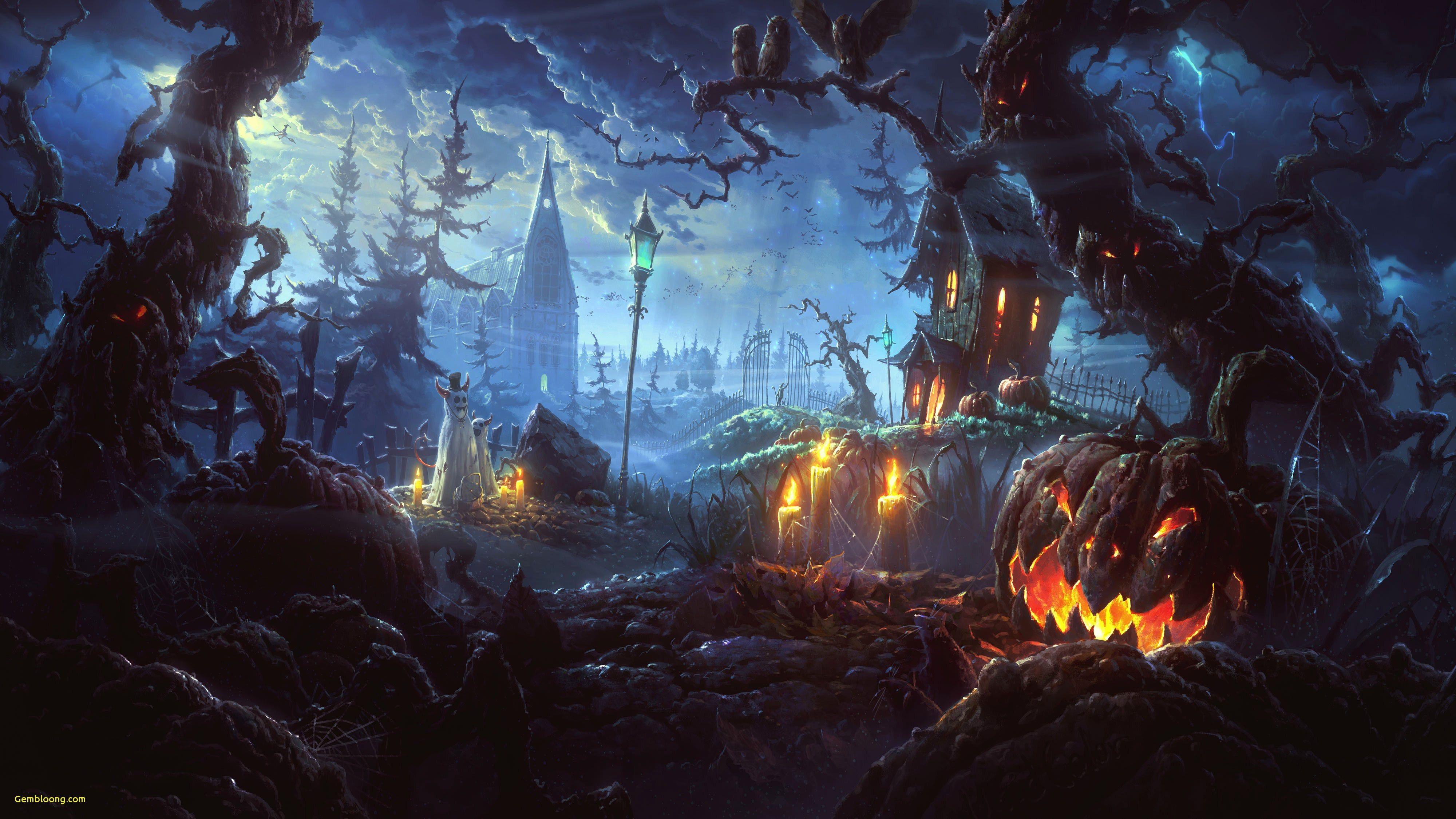 Halloween House of Fear HD Wallpaper