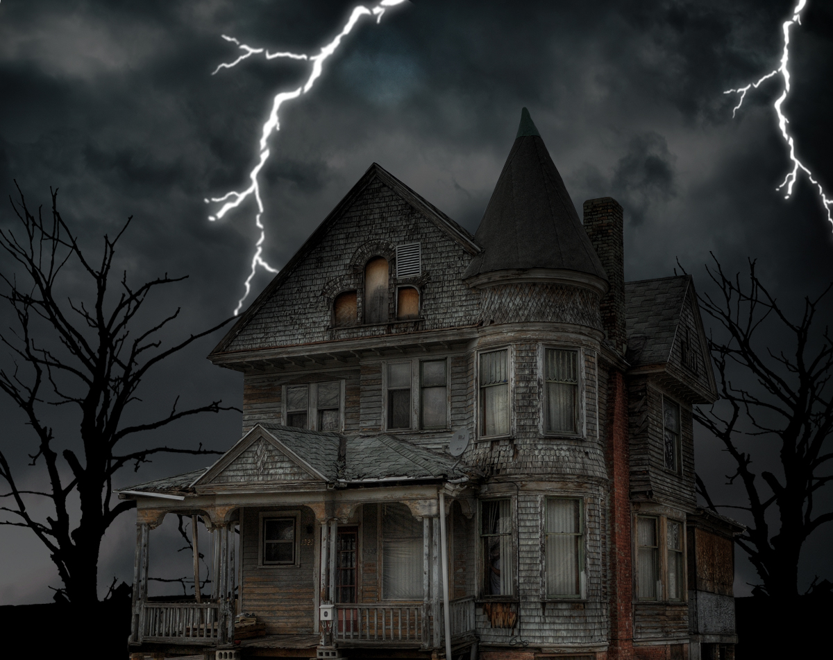 Haunted House HD 1200x952 black,green Desktop and Mobile Wallpapers