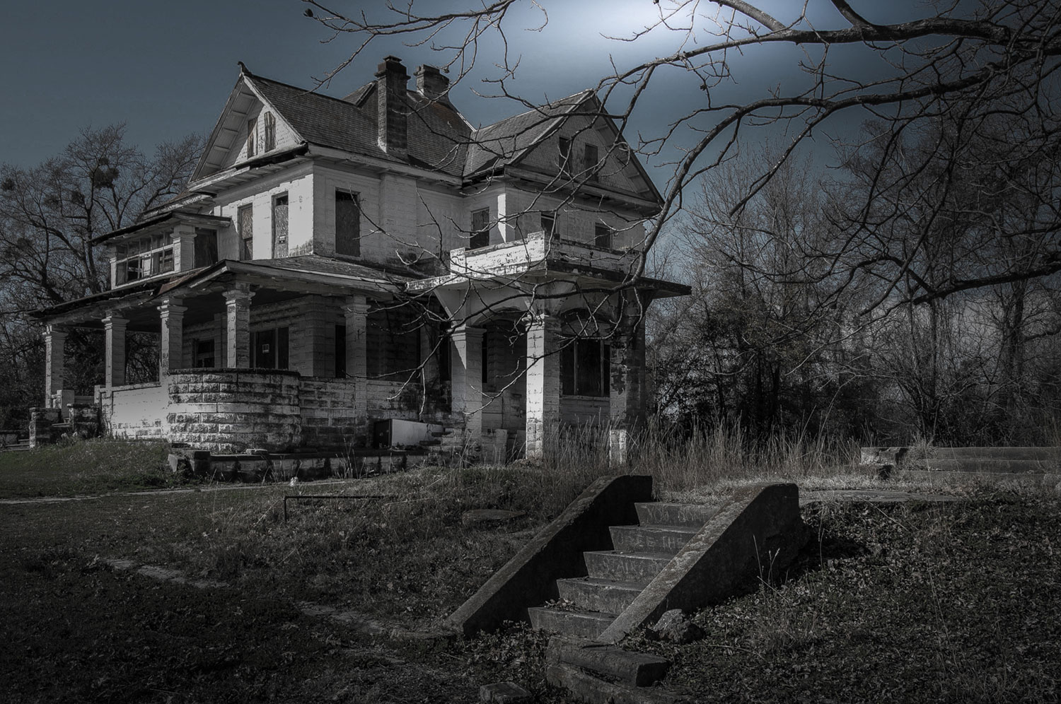Haunted House HD black,green,pink 1500x996 Wallpaper