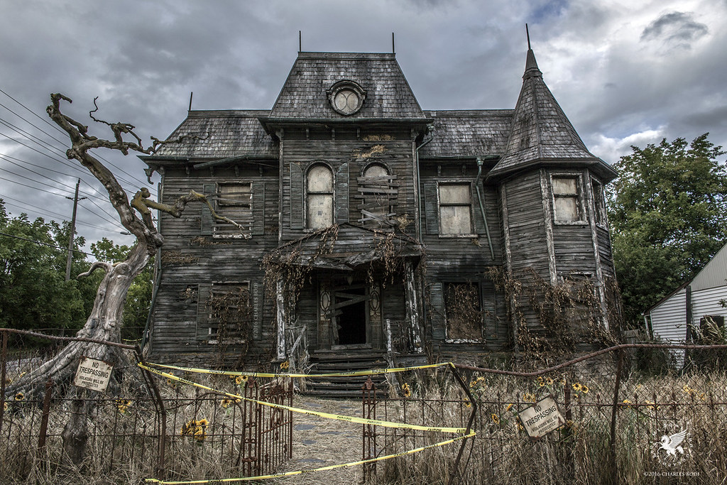 Haunted House HD black,pink,green,purple 1024x683 Photos and Wallpapers